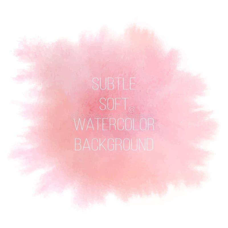 抽象背景五颜六色的向量 软的桃红色水彩污点 皇族释放例证