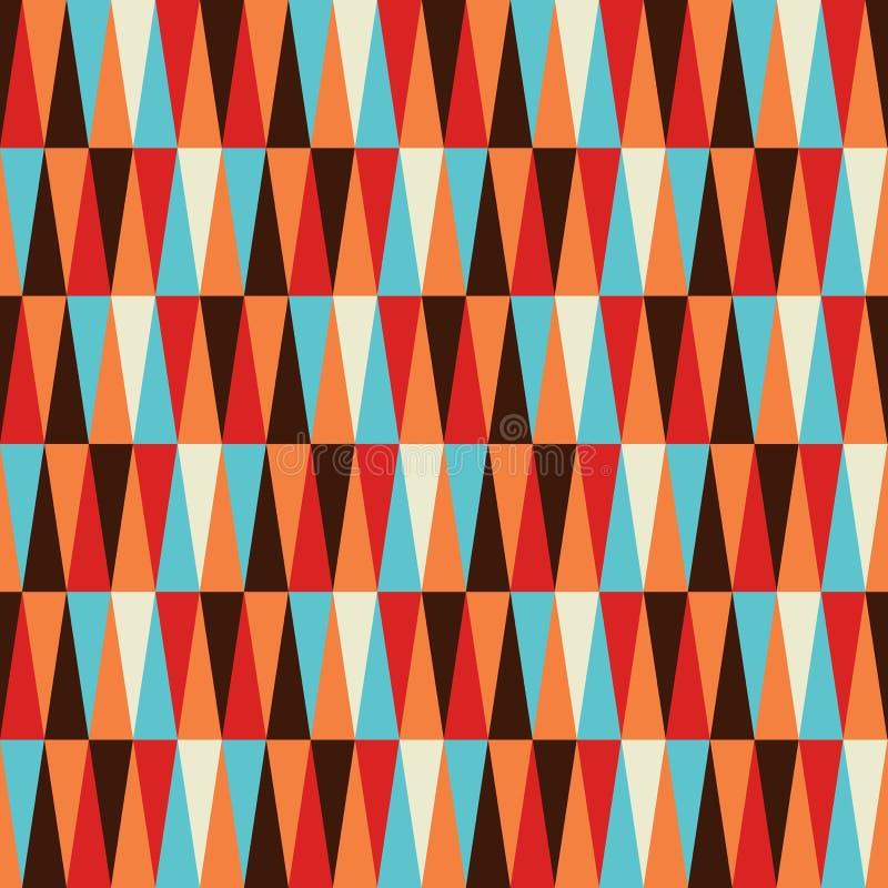 抽象背景五颜六色的模式三角 向量例证