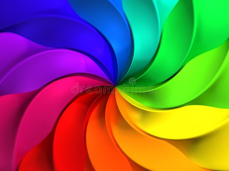 抽象背景五颜六色的模式风车 库存例证