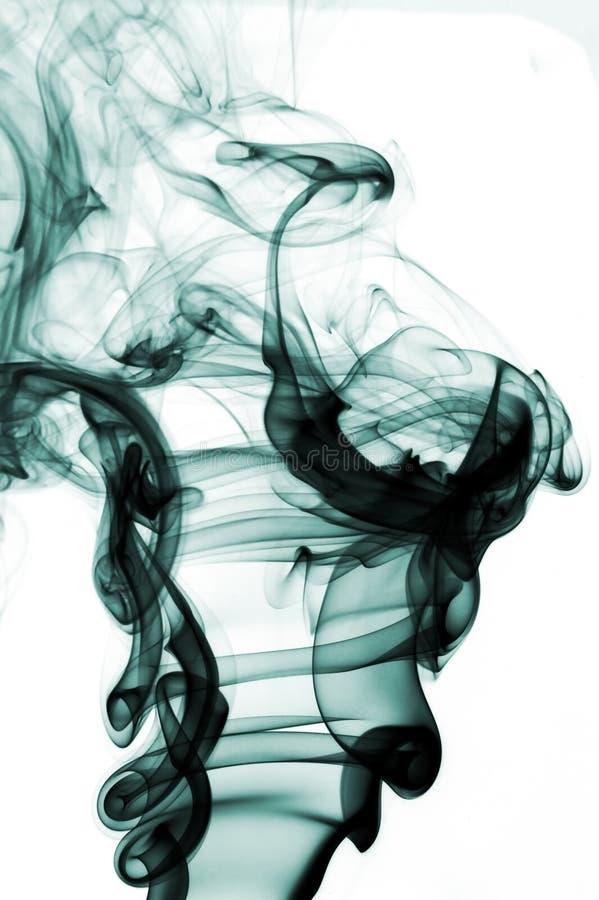 抽象背景五颜六色的烟 库存例证