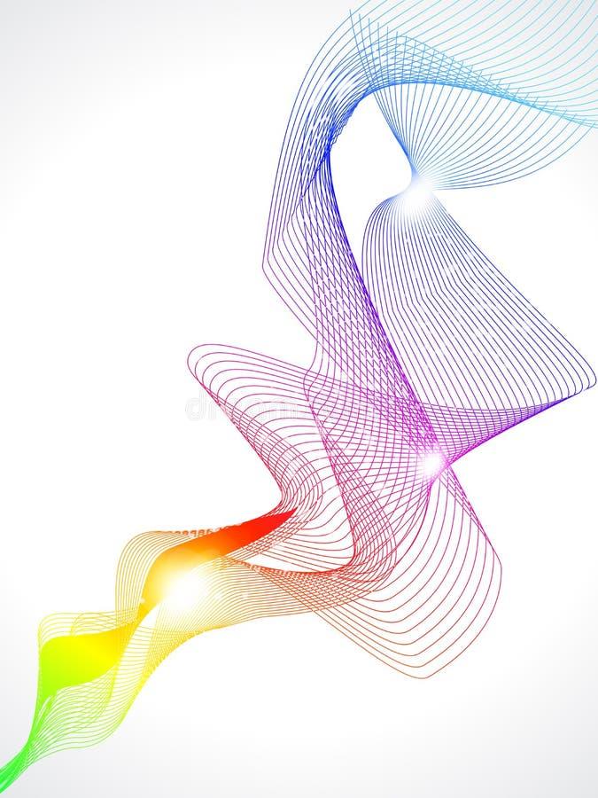 抽象背景五颜六色的烟 皇族释放例证