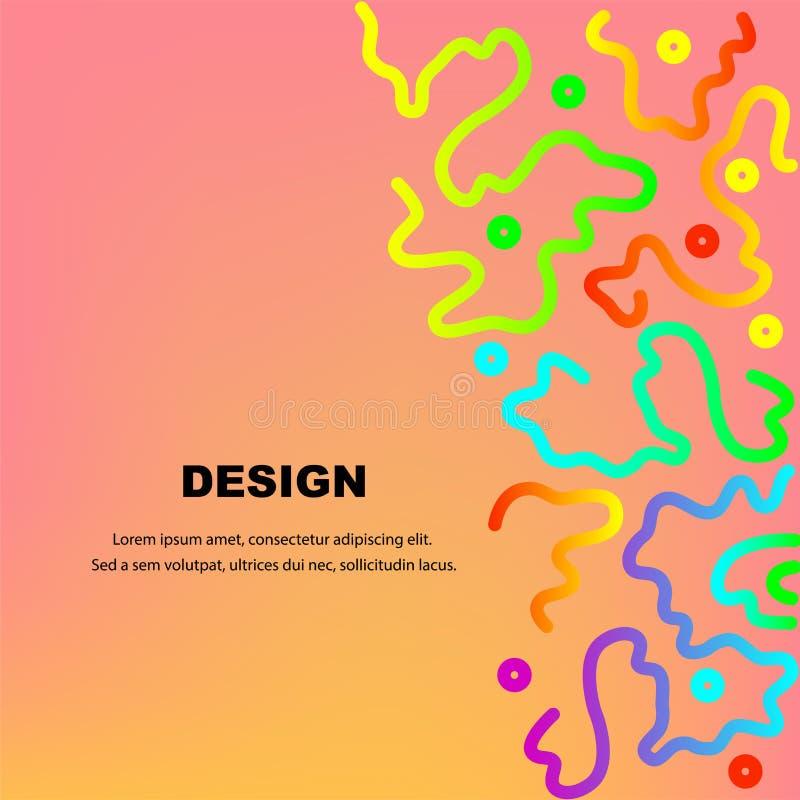 抽象背景五颜六色的设计 向量例证