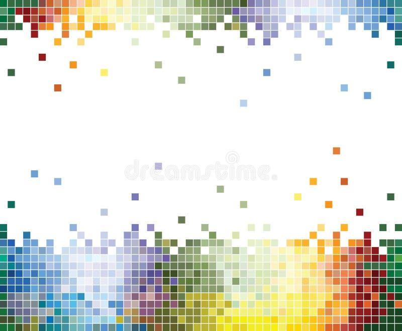 抽象背景五颜六色的象素 向量例证