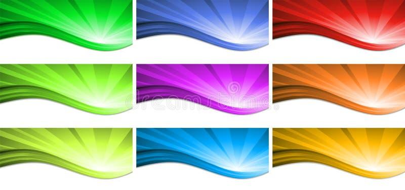 抽象背景五颜六色的通知 向量 皇族释放例证