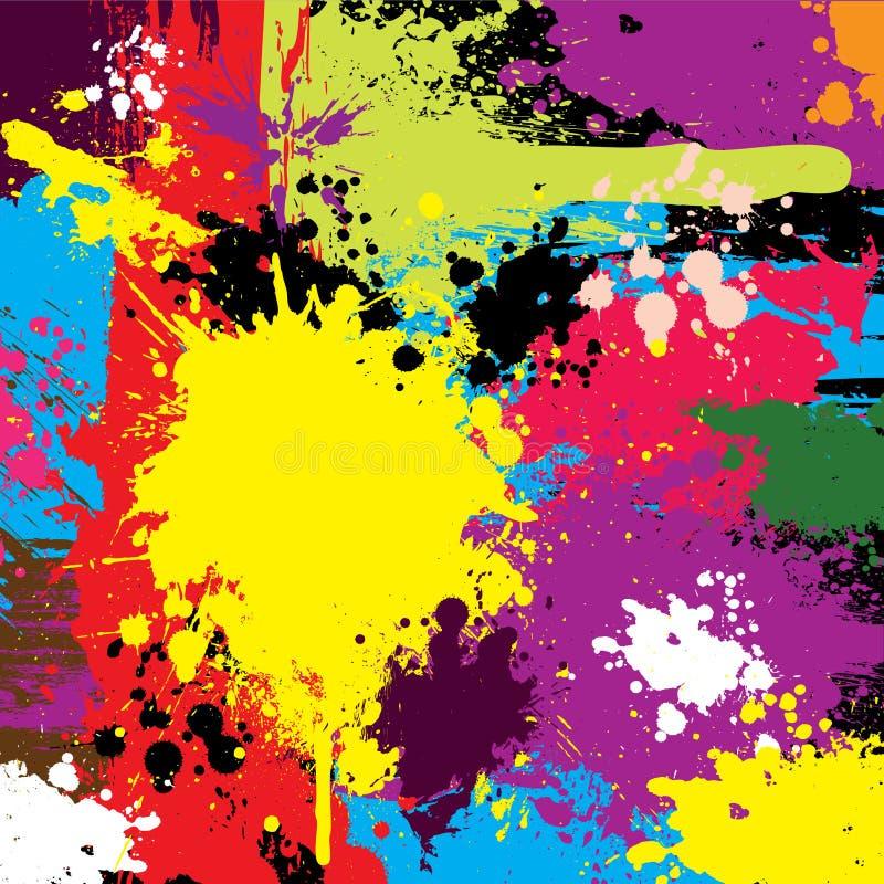 抽象背景五颜六色的grunge向量 向量例证