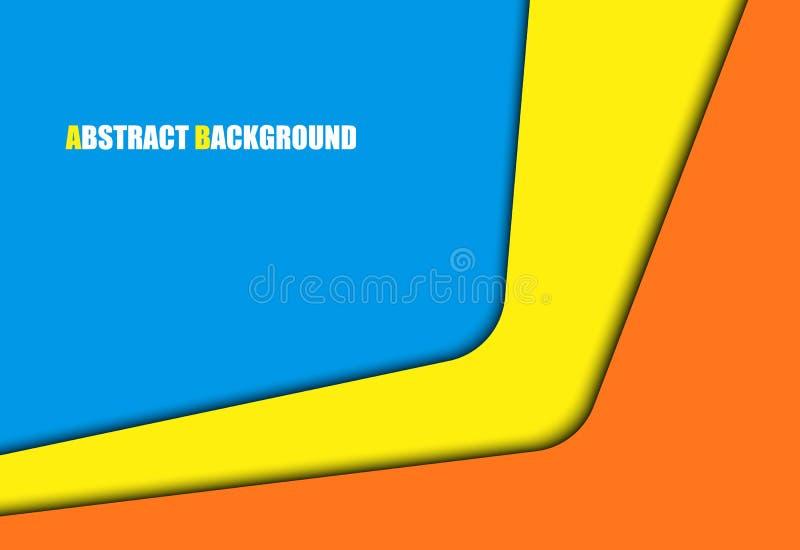 抽象背景五颜六色总公司 导航文本和消息设计的交叠纸层数方形框 皇族释放例证