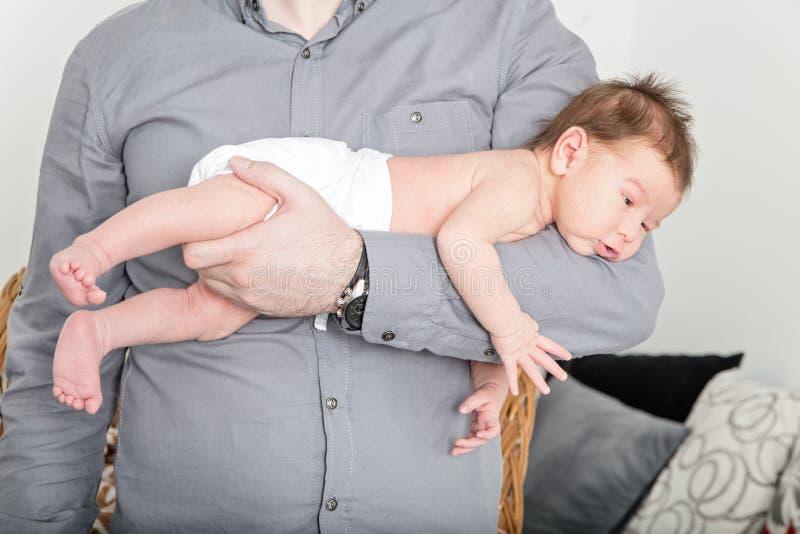 抽象背景儿童父亲现有量俏丽s休眠 图库摄影