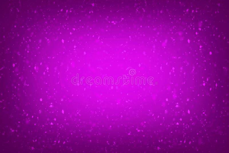 抽象背景公主女婴生日背景,紫色和桃红色闪烁葡萄酒光backgrou的紫色闪烁 库存例证