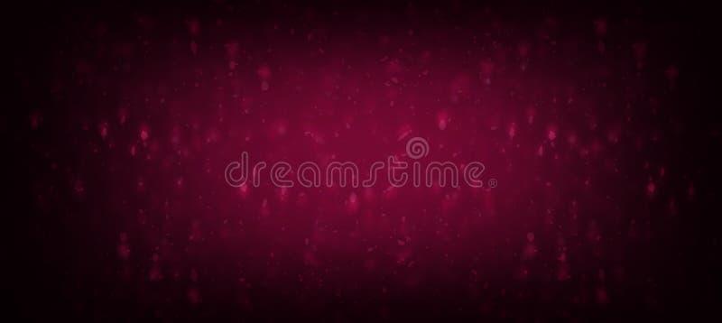 抽象背景公主女婴生日背景,紫色和桃红色闪烁葡萄酒光backgrou的紫色闪烁 向量例证