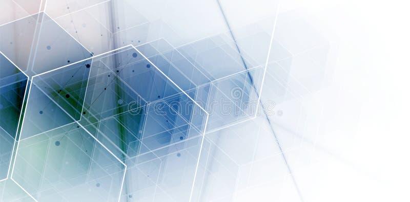 抽象背景六角形 技术多角形设计 Digita 库存例证