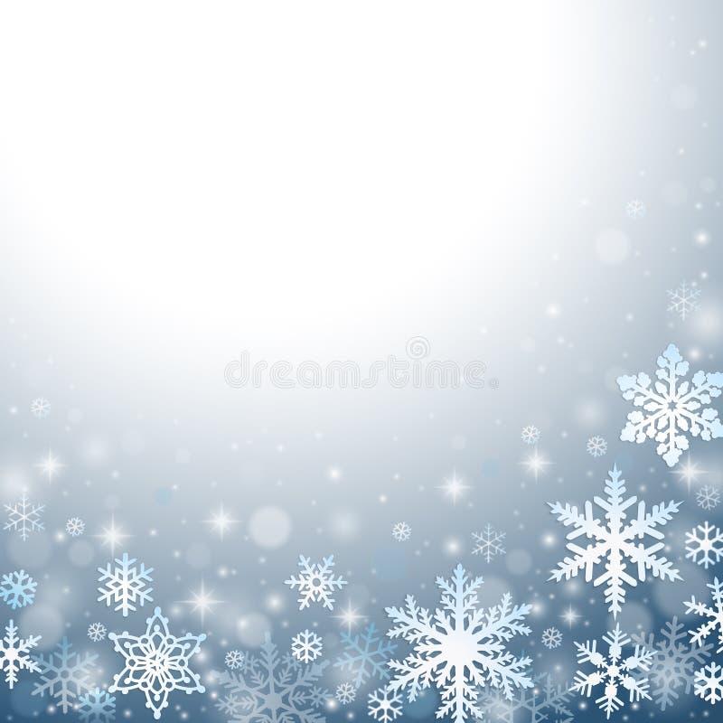 抽象背景冬天 向量例证