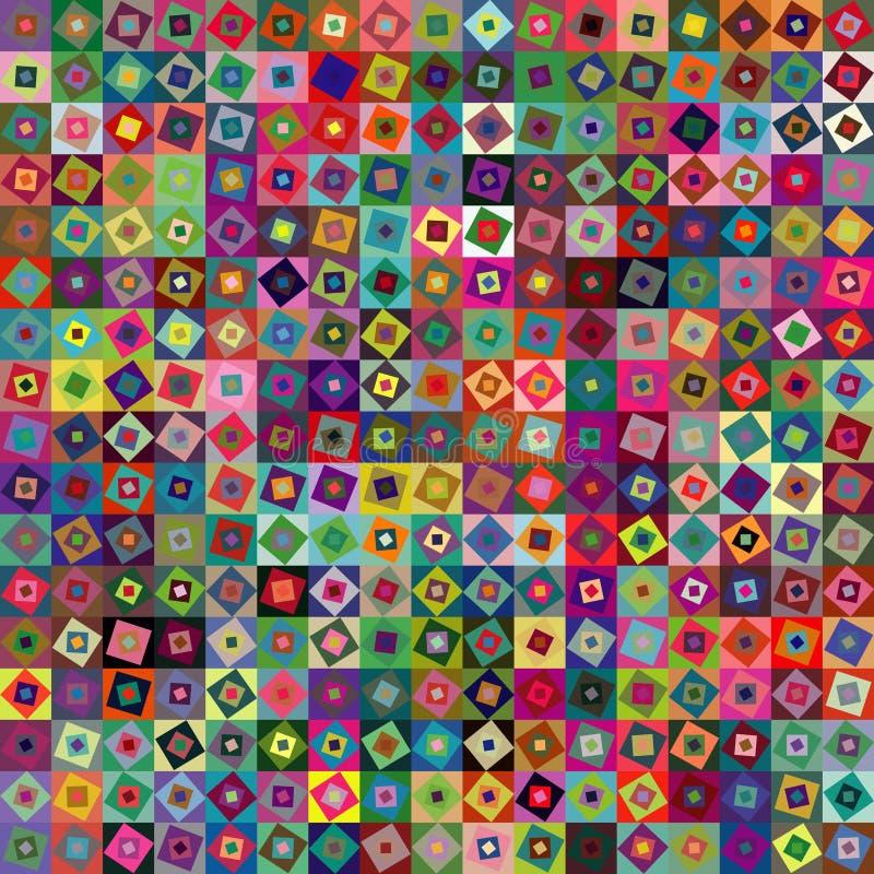 抽象背景几何正方形 库存例证