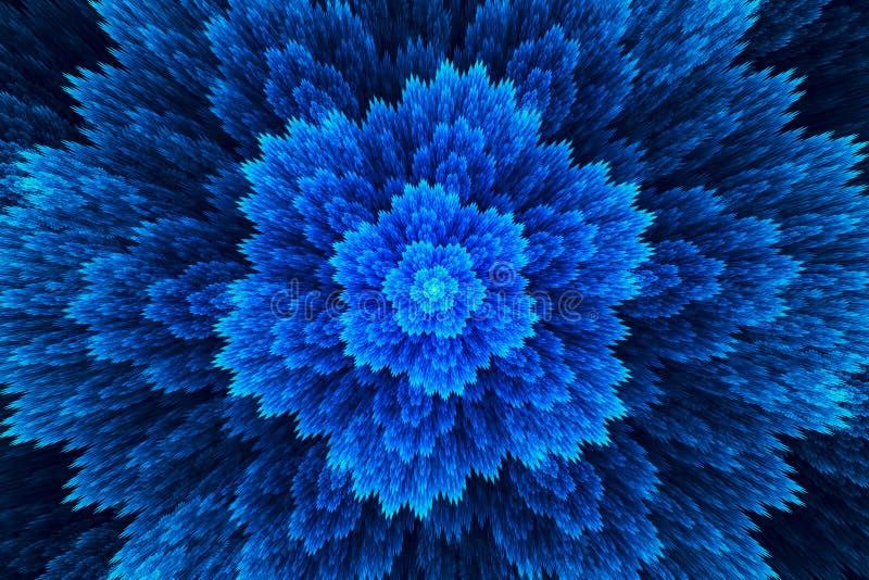抽象背景分数维 高度详细的背景喜欢一朵美妙的花 对您创造性的设计 向量例证