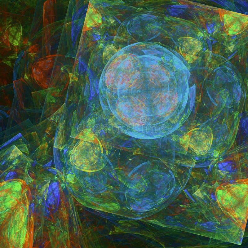 抽象背景分数维 皇族释放例证