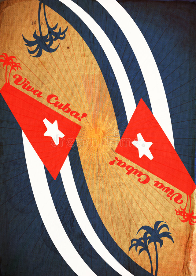 抽象背景创造性古巴坏的viva 库存例证