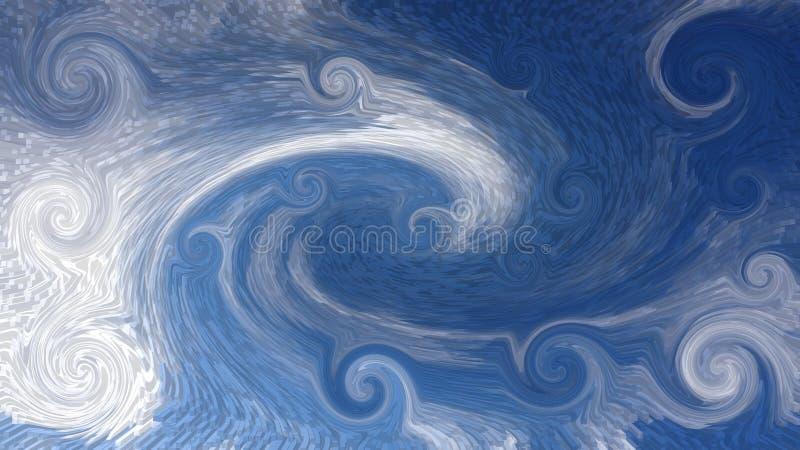 抽象背景包括的螺旋和波浪 免版税库存图片