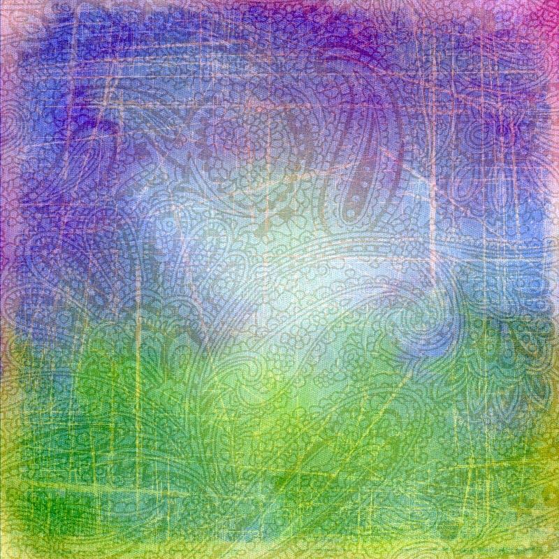 抽象背景印第安模式黄瓜。 图库摄影