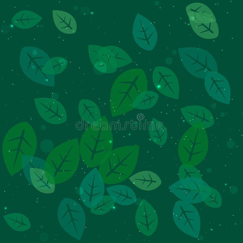 抽象背景叶子 向量例证