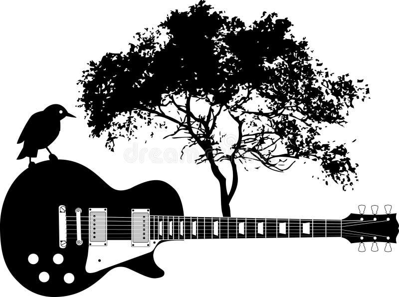 抽象背景吉他 皇族释放例证