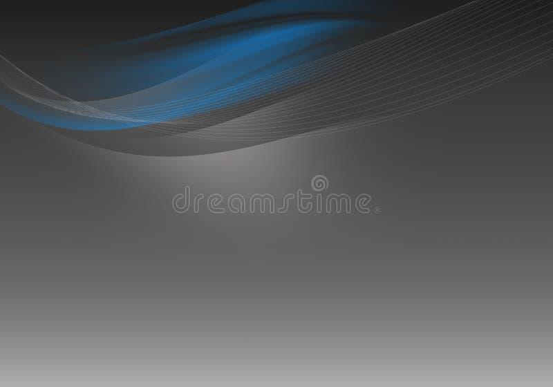 抽象背景向量通知 灰色和蓝色 库存例证