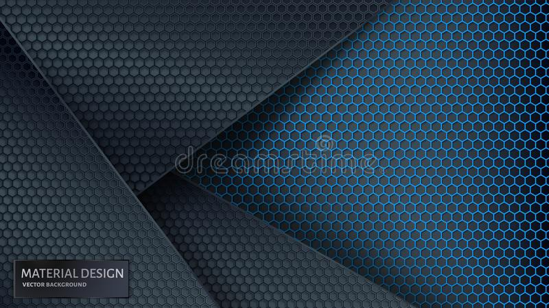 抽象背景向量 重叠的碳栅格 皇族释放例证