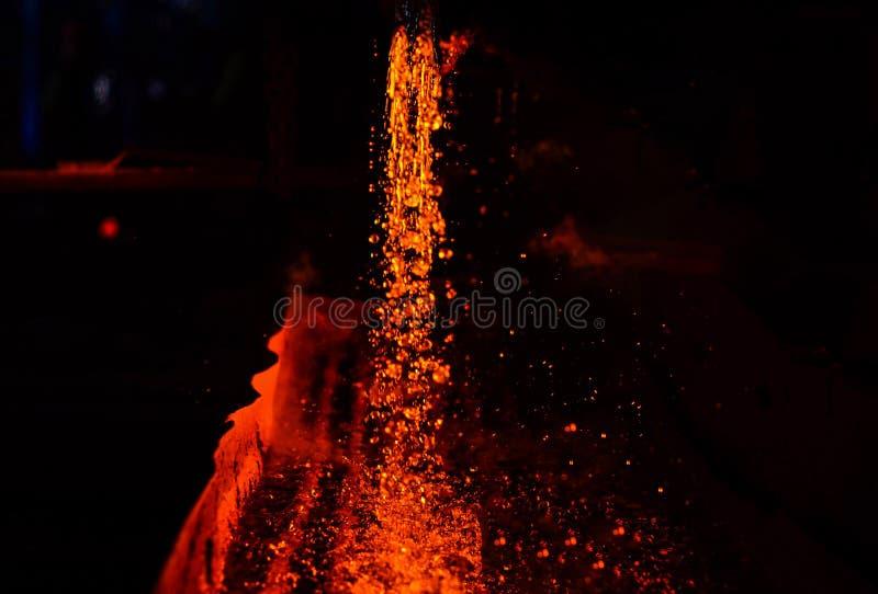 抽象背景和纹理的用途 重工业冶金植物激发火炉metall 免版税库存照片
