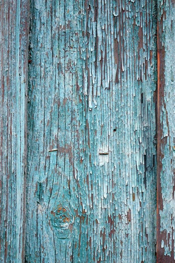淡色木板条纹理,葡萄酒蓝色木背景 库存照片