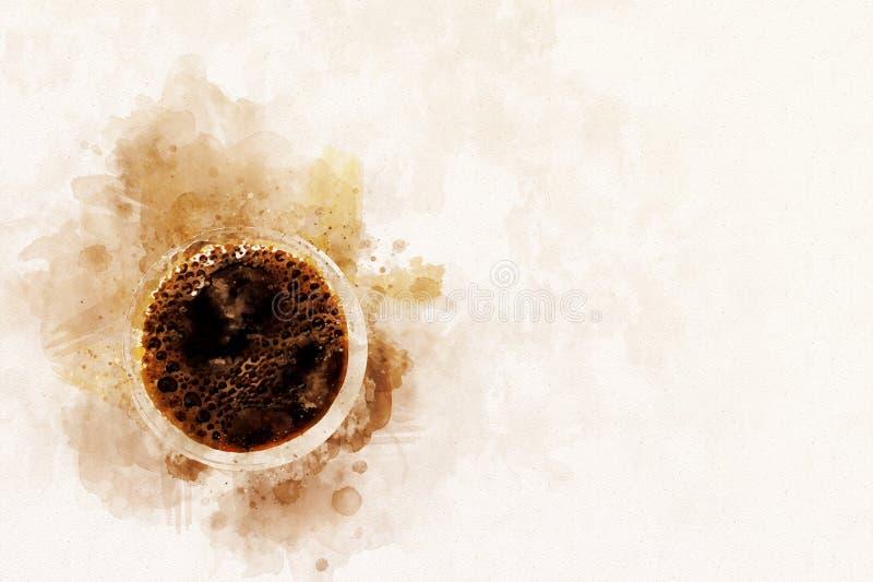 抽象背景咖啡空的前景位子文本 皇族释放例证