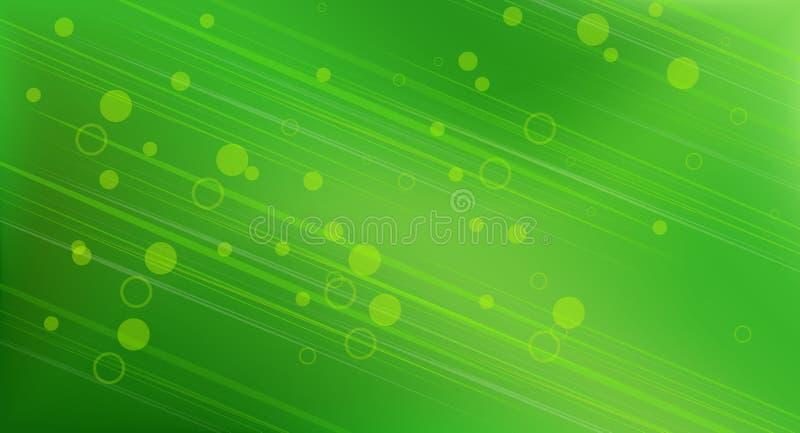 抽象背景圆的绿色 向量例证