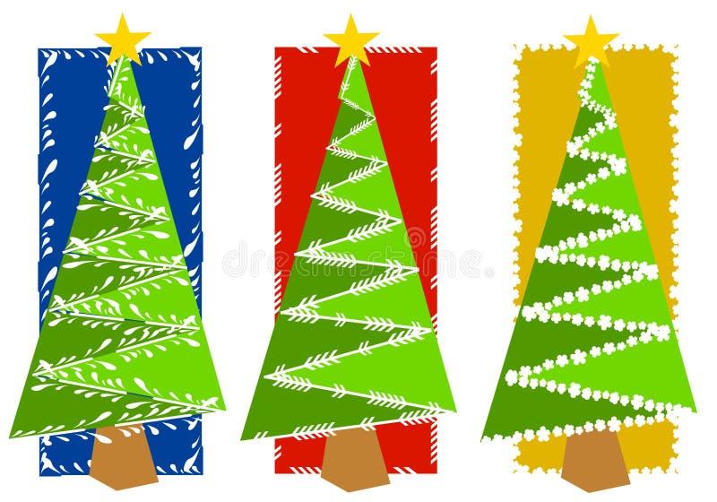 抽象背景圣诞树 向量例证