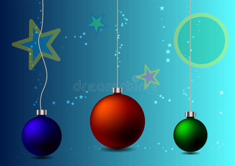 抽象背景圣诞节球 皇族释放例证