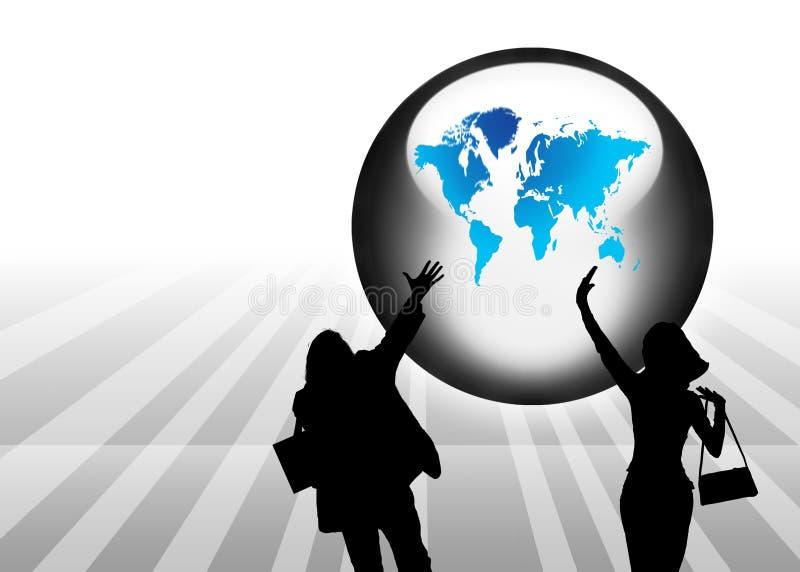 Download 抽象背景地球剪影 库存例证. 插画 包括有 环境, 模式, 通信, 生意人, 地球, 行星, 概念, 地标 - 3671310
