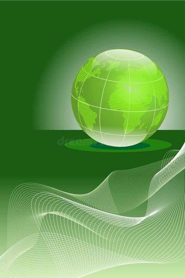 抽象背景地球通知 库存例证