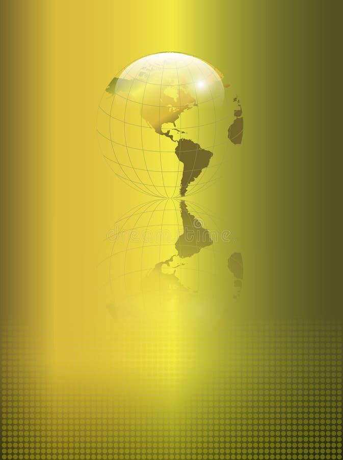 抽象背景地球金子 向量例证