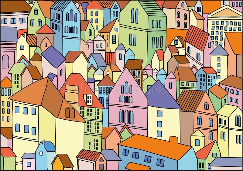 抽象背景城市颜色图画