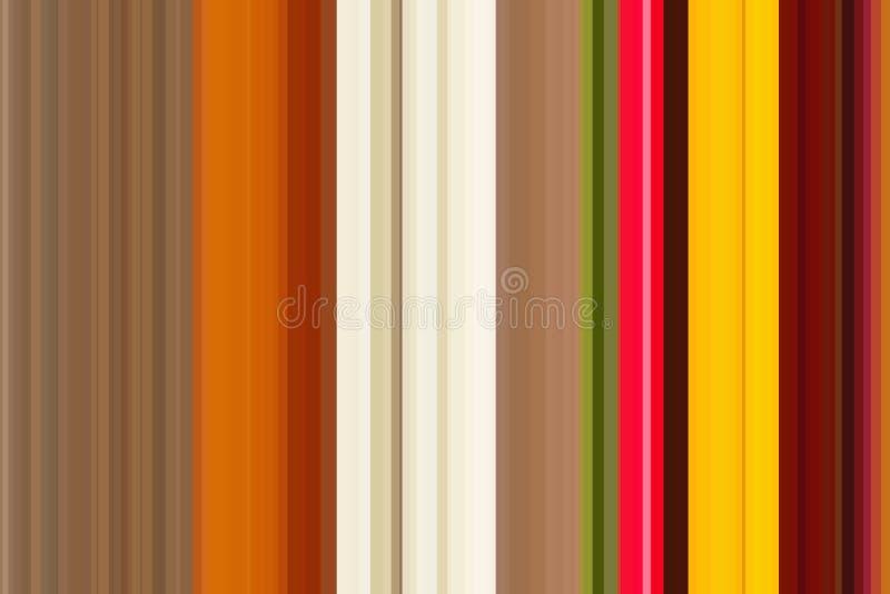 抽象背景夏天 自然背景 图形设计的生态概念 五颜六色的无缝的条纹样式 抽象铁笔 库存例证