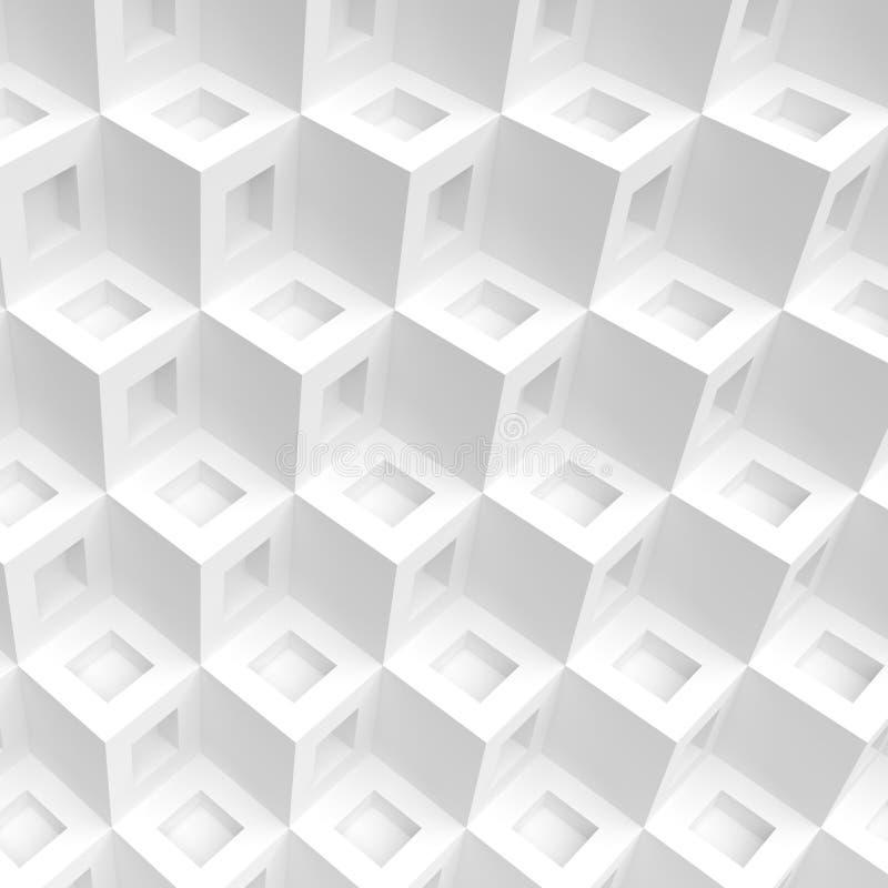 抽象背景多维数据集 创造性的几何形状 向量例证