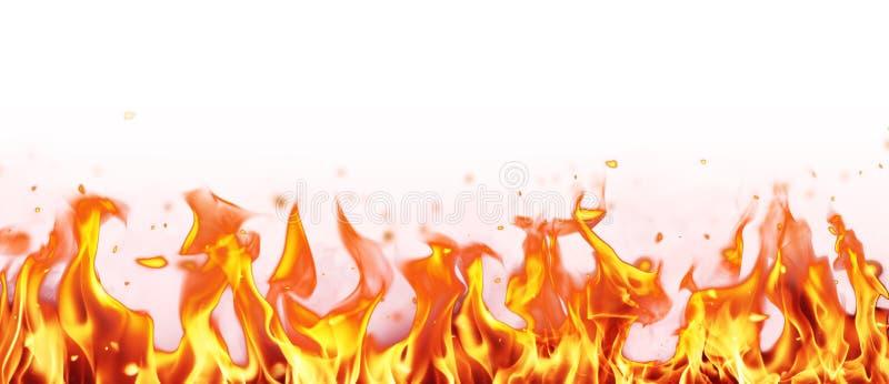抽象背景展开火热的火火焰 免版税图库摄影