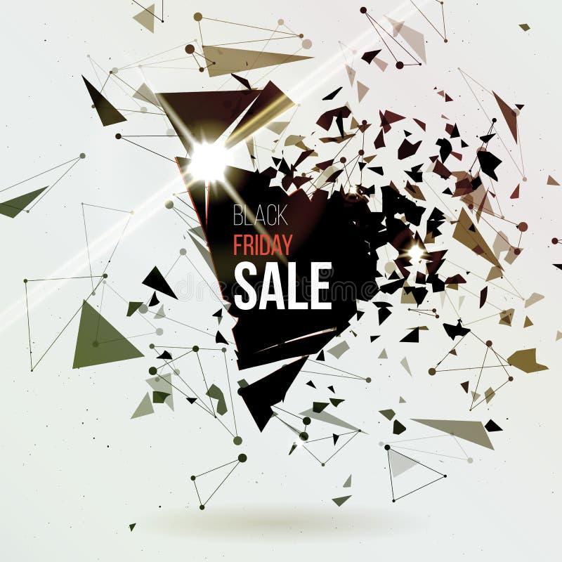 抽象背景展开 黑星期五海报 拟订模板 大销售额 库存例证