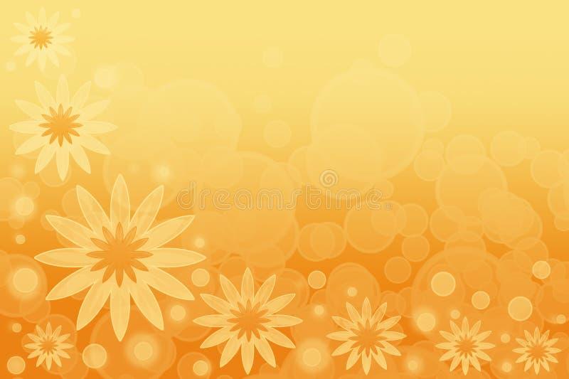 抽象背景开花夏天黄色 库存例证