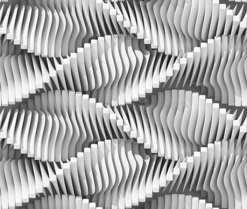 抽象背景弯曲的线路 库存例证
