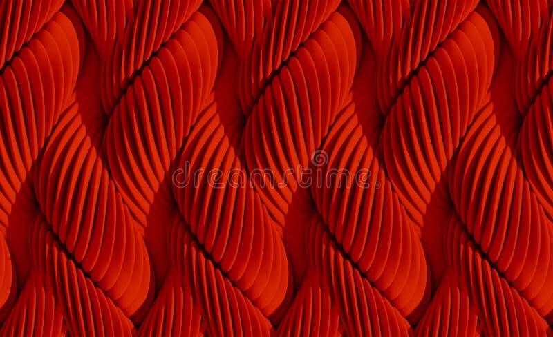 抽象背景弯曲的线路 向量例证