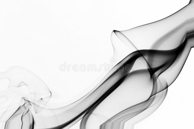 抽象背景形状烟 库存图片