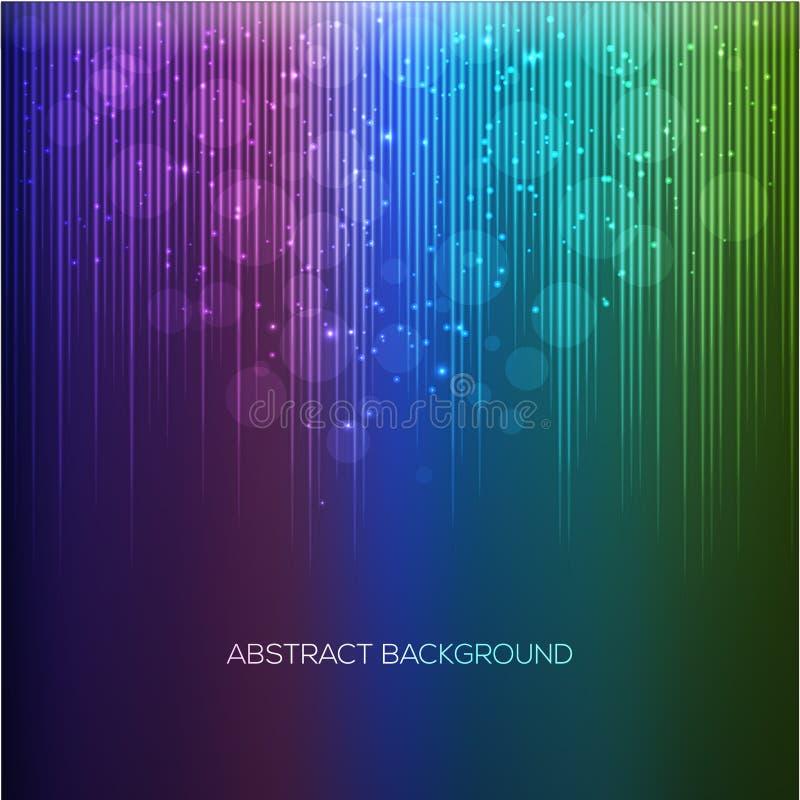 抽象背景彩虹 库存例证