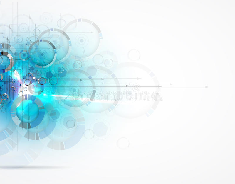 抽象背景技术 未来派技术接口 Vecto 向量例证