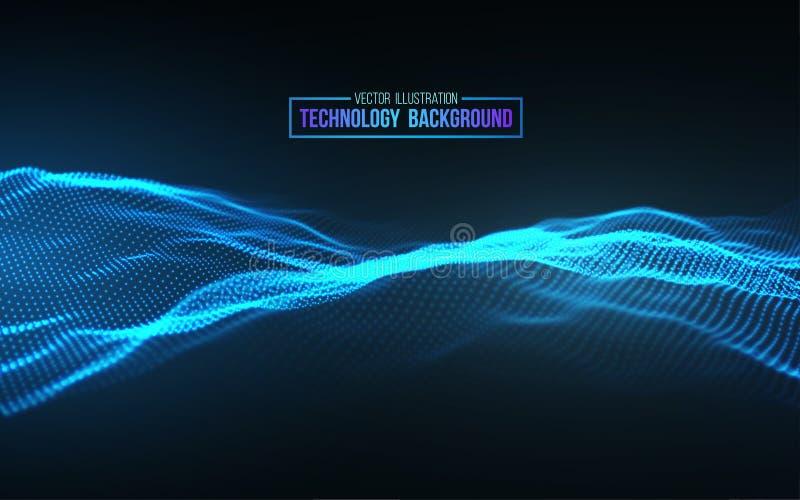 抽象背景技术 背景3d栅格 网络技术Ai技术导线网络未来派wireframe 皇族释放例证