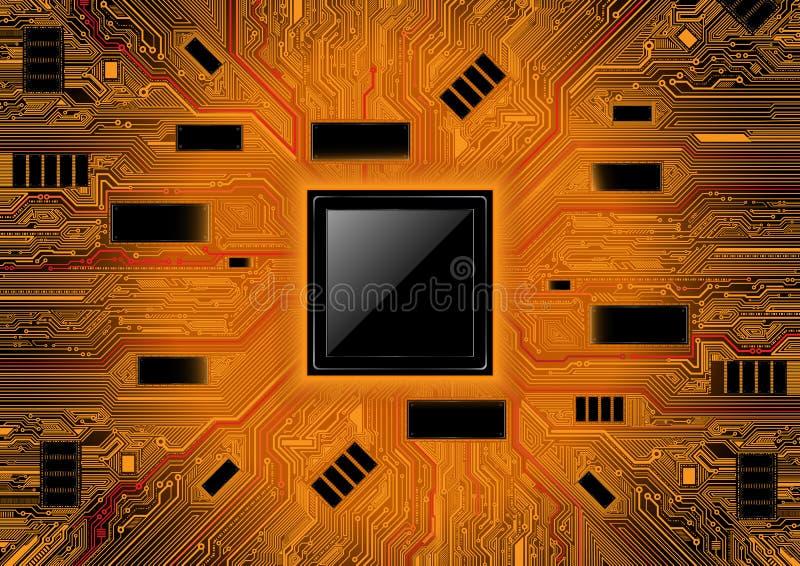 抽象背景技术 芯片组概念传染媒介设计 库存例证