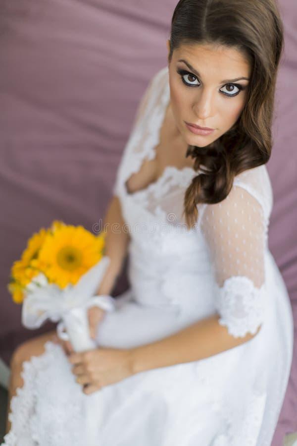 抽象背景新娘礼服女孩婚礼年轻人 免版税图库摄影