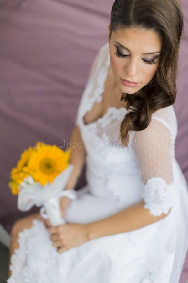 抽象背景新娘礼服女孩婚礼年轻人 库存照片