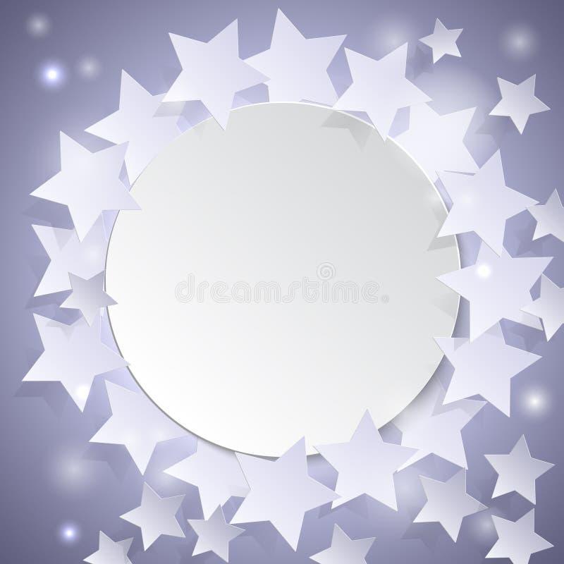 抽象背景星形 向量例证EPS10 库存例证